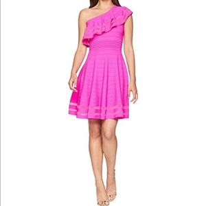 NEW Ted Baker Streena Pink Ruffle One Shoulder